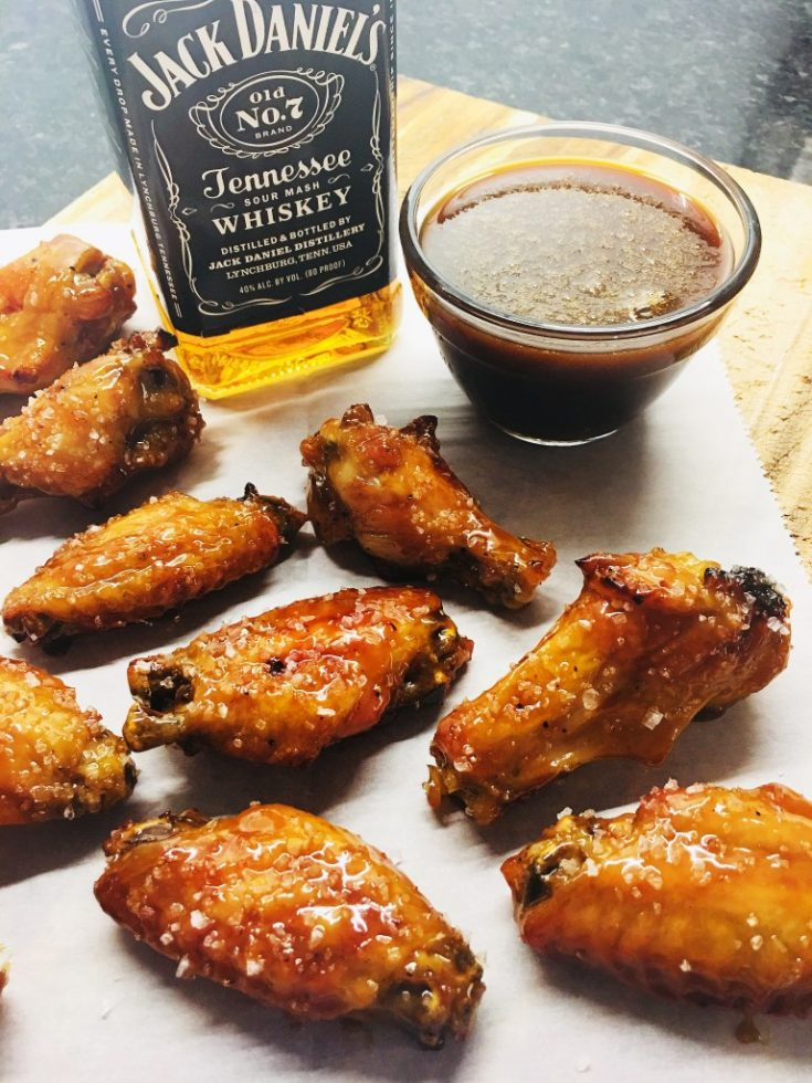 Salted Caramel Whiskey Chicken Wings