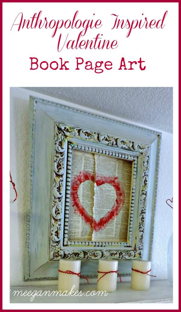 Book Page Valentine Art