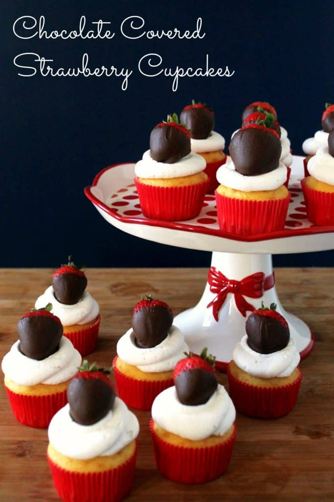 Chocolate Covered Strawberry Cupcakes for Valentine's Day
