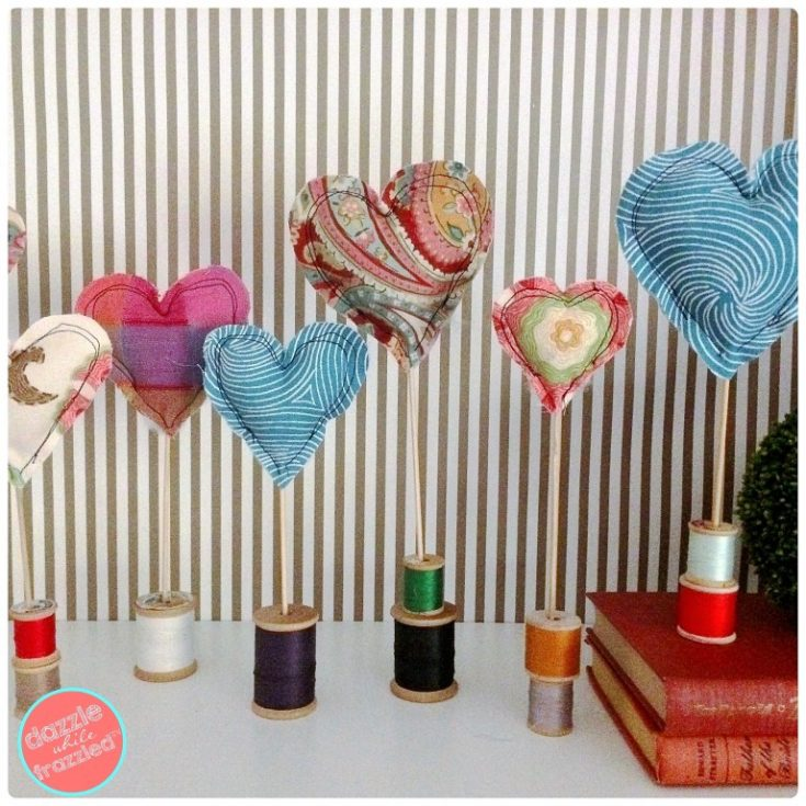 Easy Valentine's Day Fabric Heart Decorations
