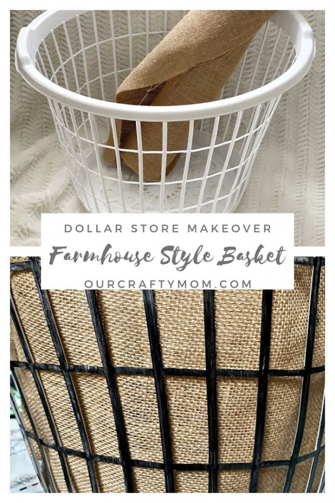 before and after basket makeover