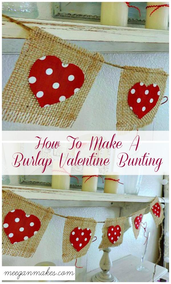 Polka Dot Valentine Bunting