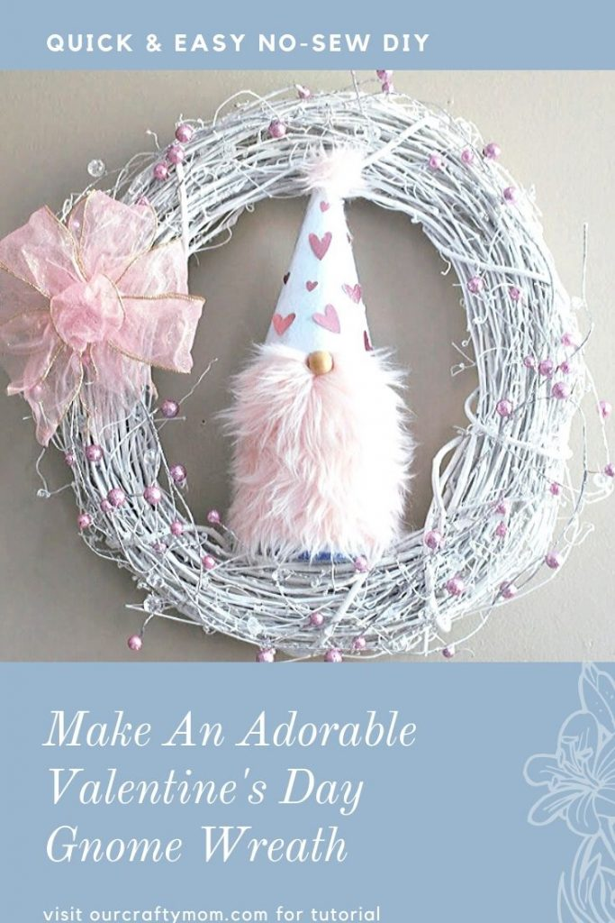 Make An Adorable Valentine's Day Gnome Wreath