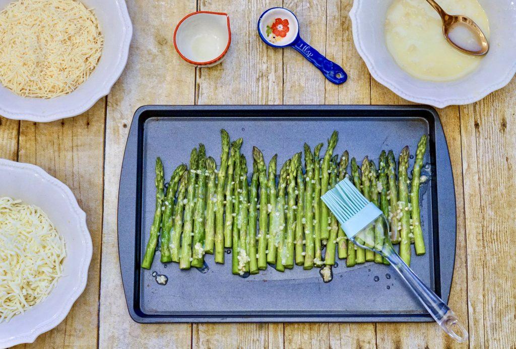 brush buttered on asparagus