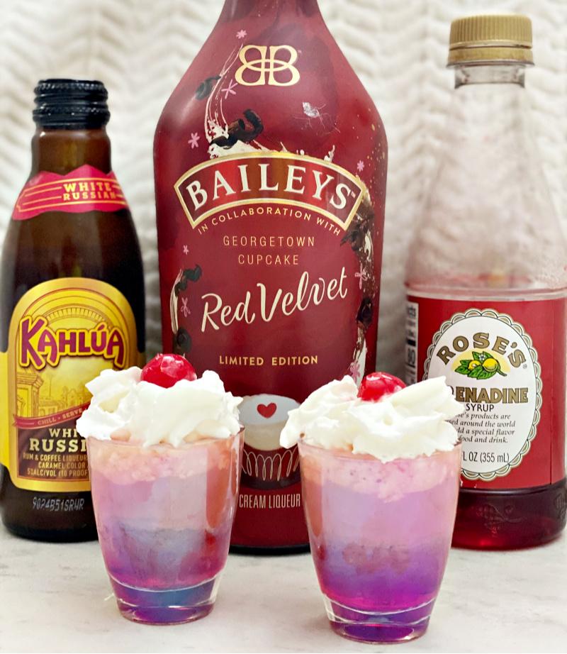 Red Velvet Bailey's Kahlua Shot