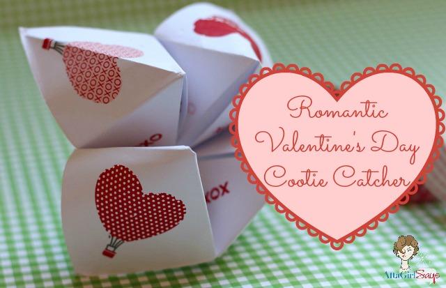 Romantic Valentine's Day Cootie Catcher Love Notes