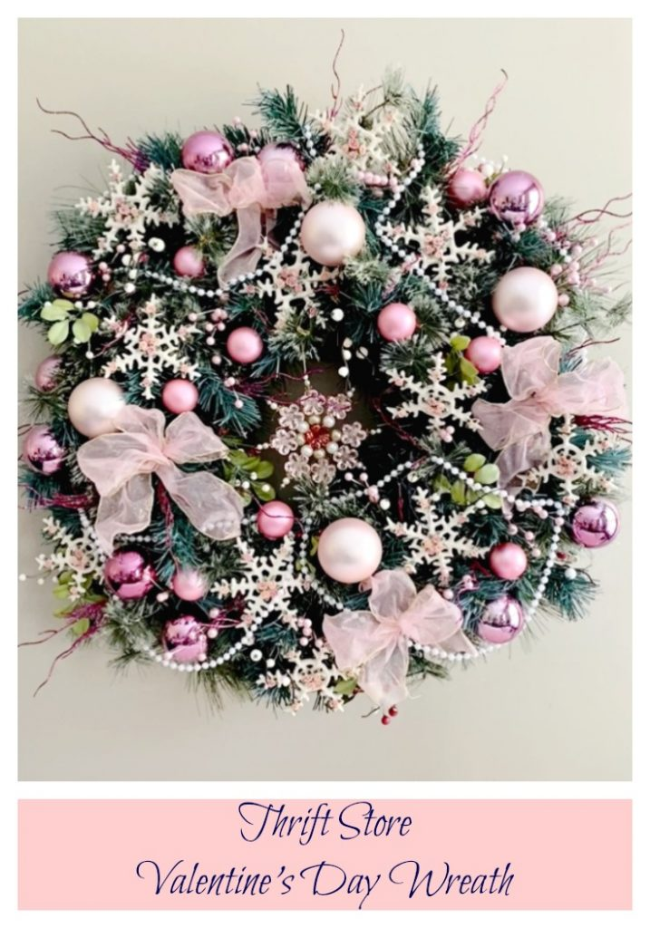 Thrift Store Valentine's Day Wreath