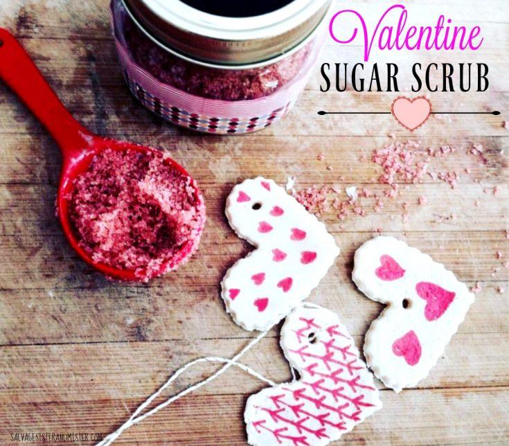 Valentine Sugar Scrub with Salt Dough Tags