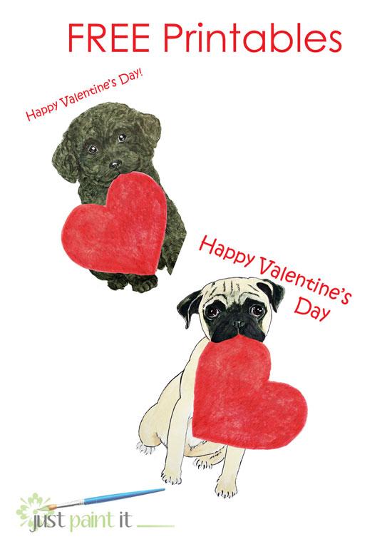 Free Printable Puppy Valentines