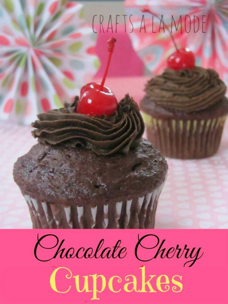 Yummy Chocolate Cherry Cupcakes