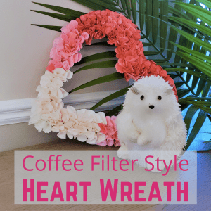 coffee filter valentine wreath