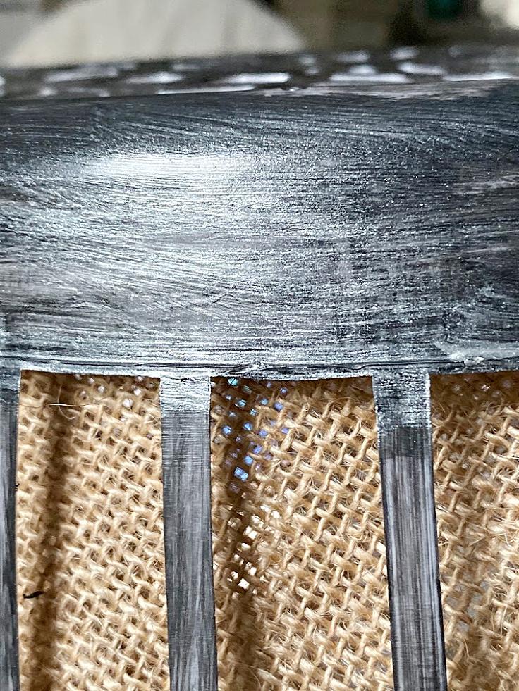 metallic paint on dollar store basket