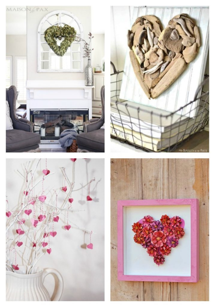 Natural wreaths from 20 Gorgeous Valentine Day Nature Inspired Crafts