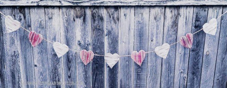 DIY Cardboard Pallet Heart Valentine Garland