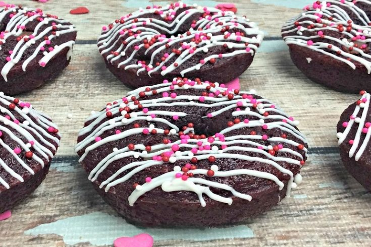 Red Velvet Valentine's Day Doughnuts