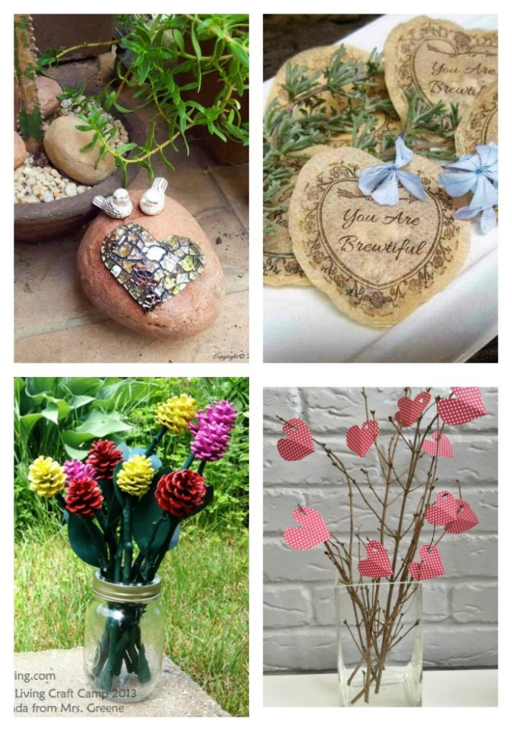 Natural valentine elements from 20 Gorgeous Valentine Day Nature Inspired Crafts