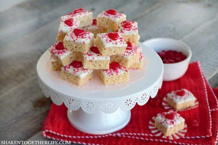 Chocolate Dipped Valentine's Day Krispie Bites