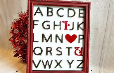Valentine's Day Fun With A Simple Glitter Vinyl Home Decor Piece