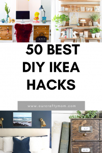 50 best diy ikea hacks pin image