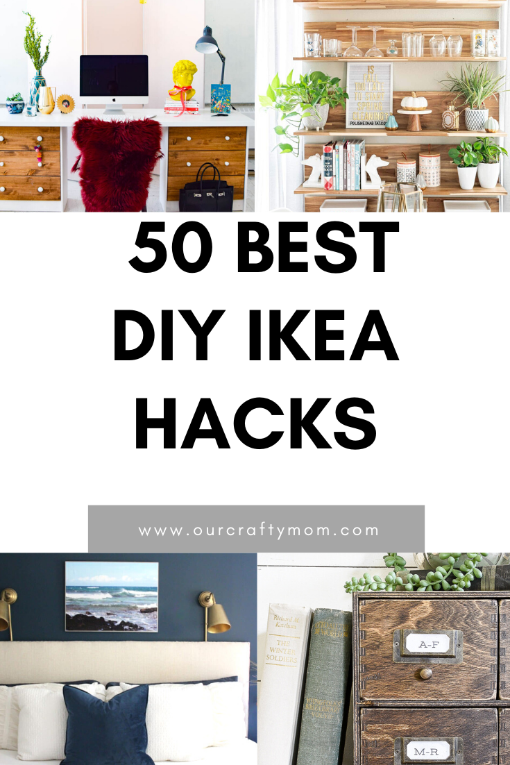 50 best diy ikea hacks pin image