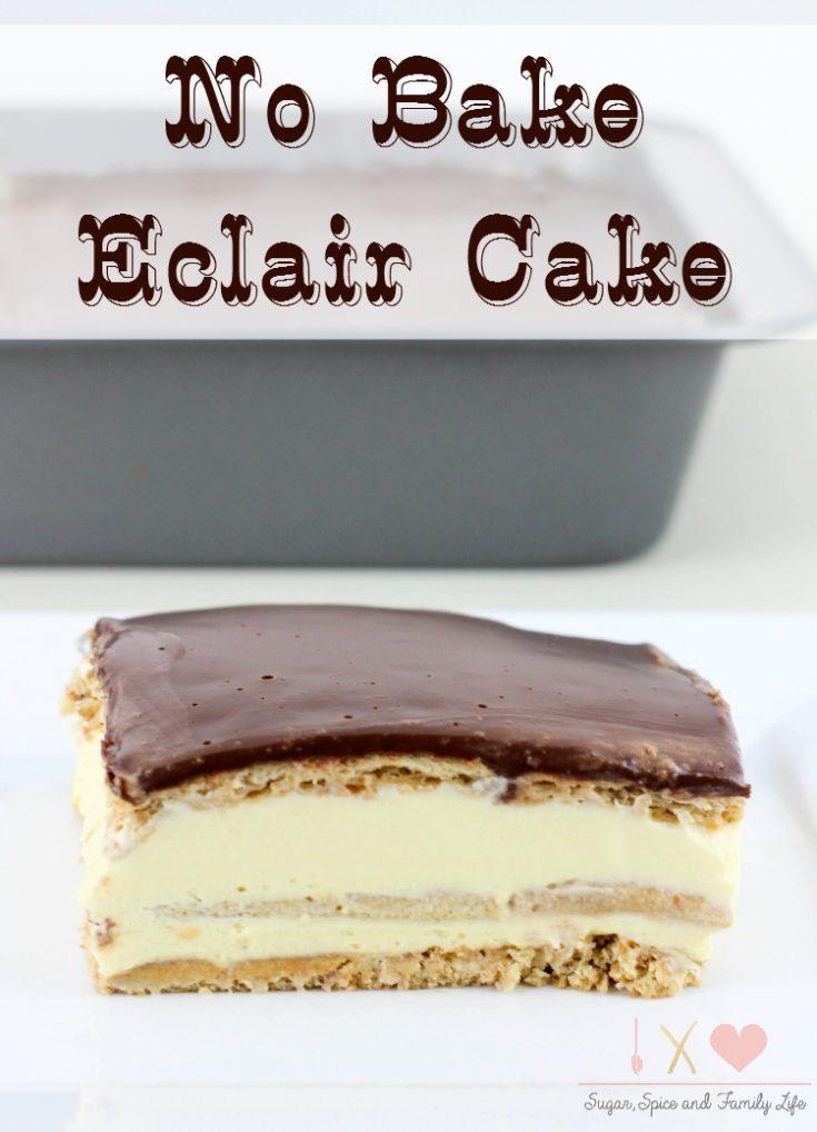 No Bake Eclair Icebox Cake Recipe