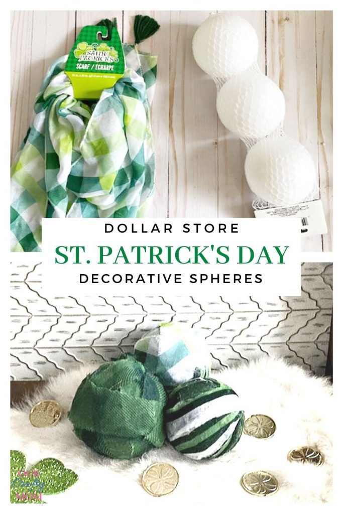 st. patrick's day decorative spheres dollar store supplies