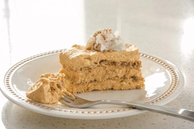 Pumpkin Icebox Cake Recipe with White Chocolate