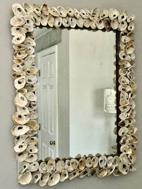 oyster mirror hanging