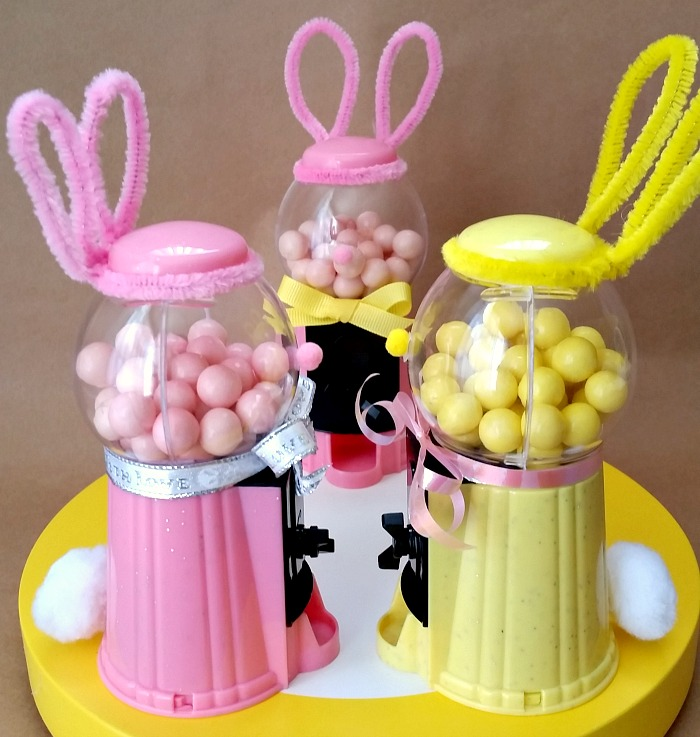 5-minute Mini Bubblegum Machine Bunny - 99 Cents Only Store Craft
