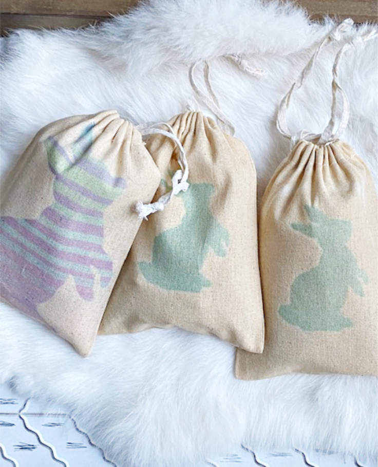 bunny infusible ink treat bags