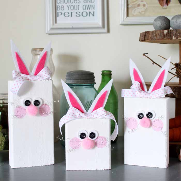 Easter Bunnies from Scrap Wood