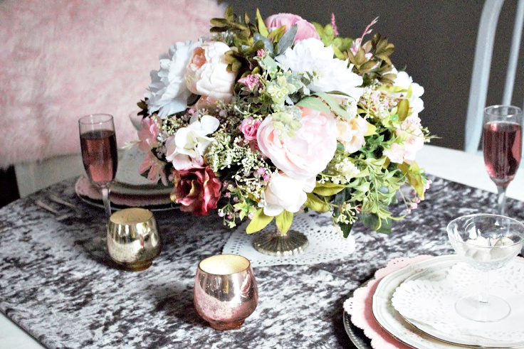 valentine tablescape