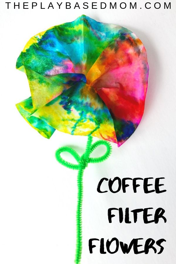 Adorable Tie-Dye Preschool Flower Craft
