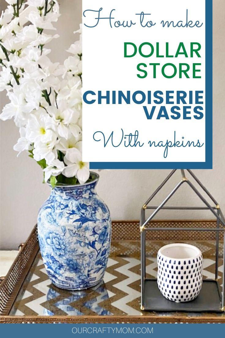 diy chinoiserie vases