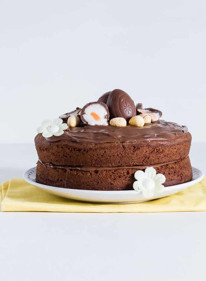 Crème Egg Nutella Cake With A Nutella Frosting