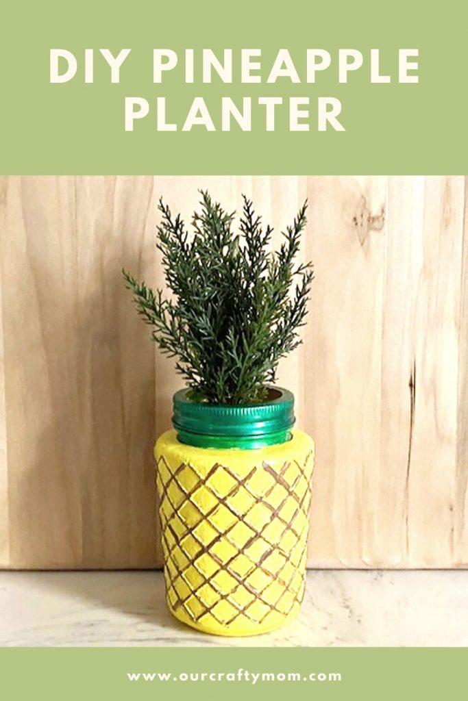 diy pineapple planter pin image