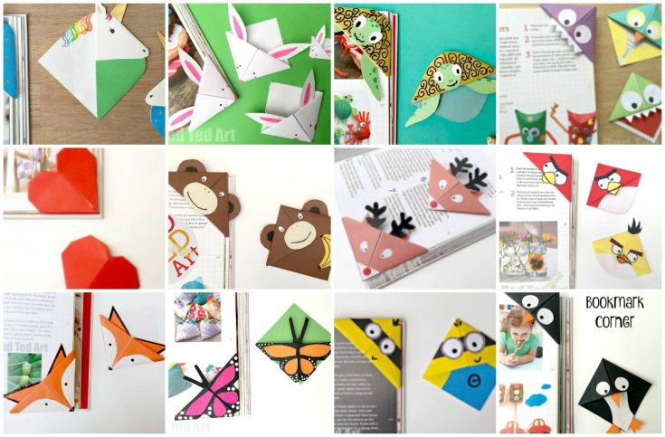 Corner Bookmarks Designs - How make Origami Bookmark Corners -
