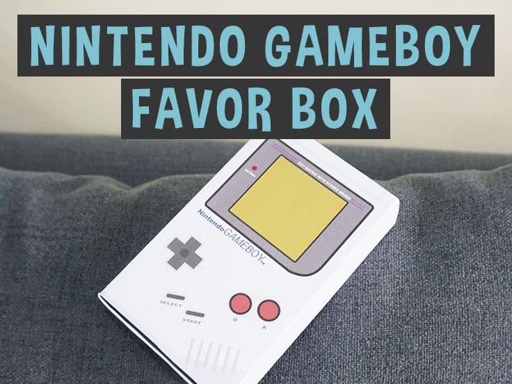 Nintendo Favor Box - Classic Gameboy Template