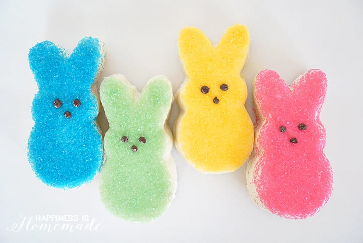 Peeps Inspired Easter Bunny Cakes
