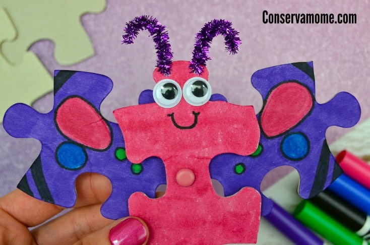 Butterfly Puzzle Craft