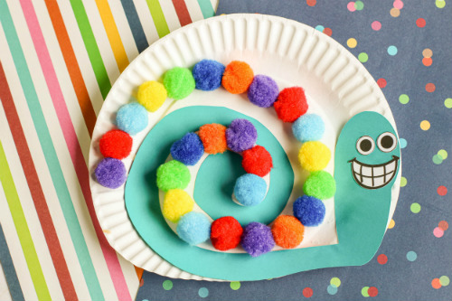 Cute Snail Paper Plate Craft for Toddlers and Preschoolers