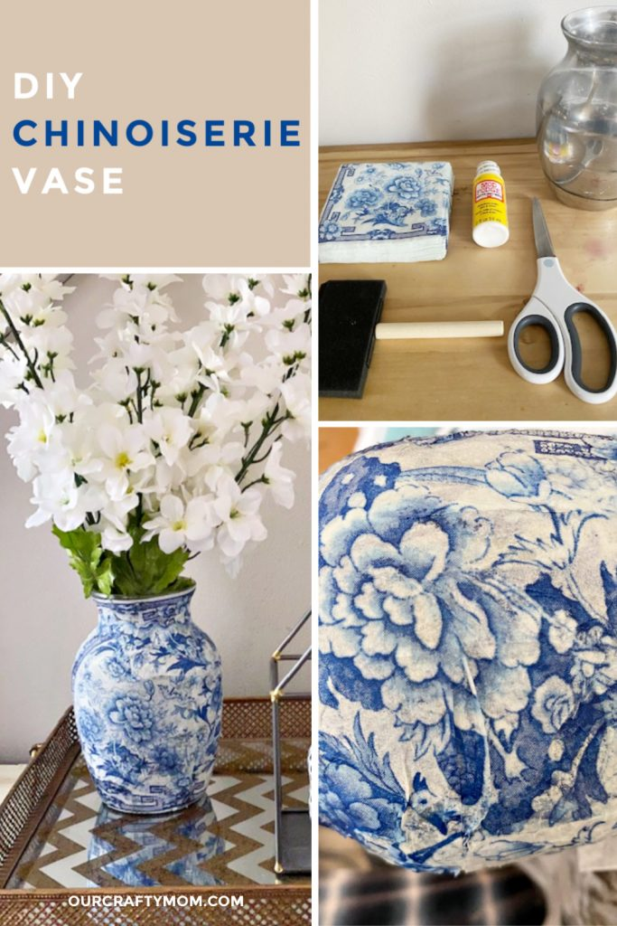 DIY chinoiserie vase collage