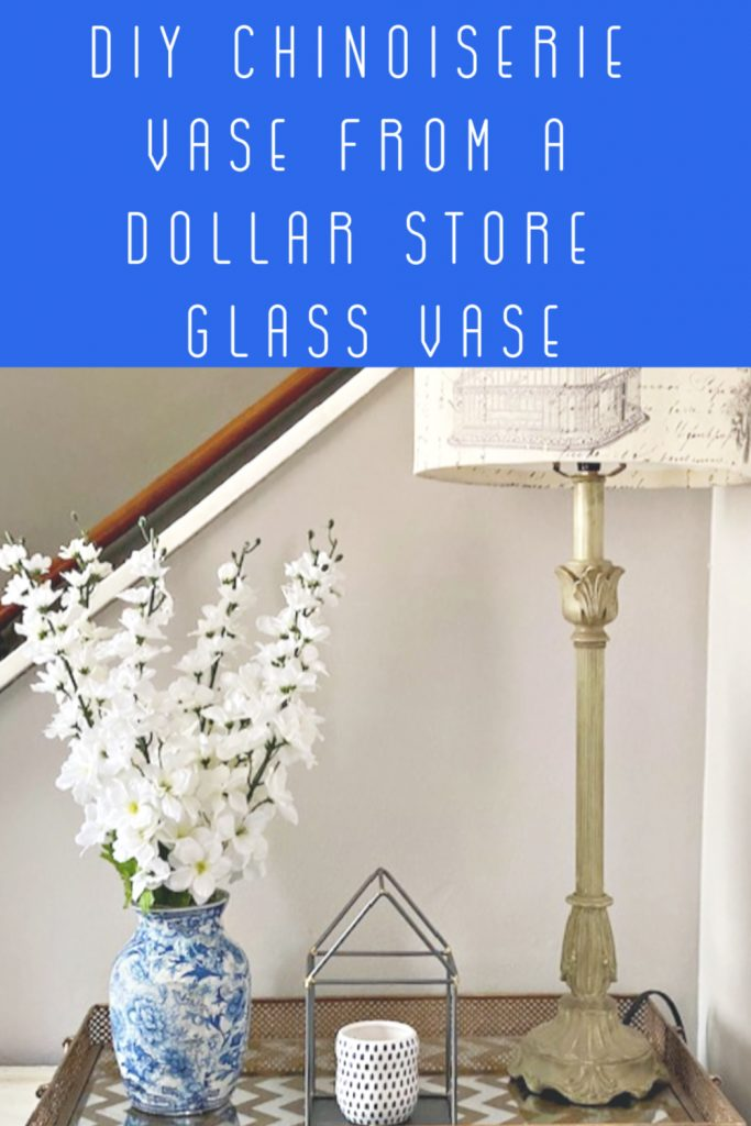DIY Dollar store chinoiserie vase