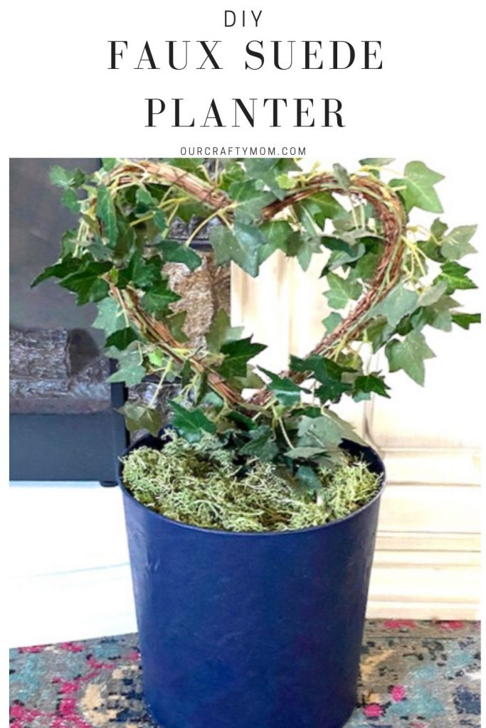 diy faux suede planter