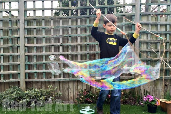 Easy Bubble Recipe - giant bubbles, bubble activities & more