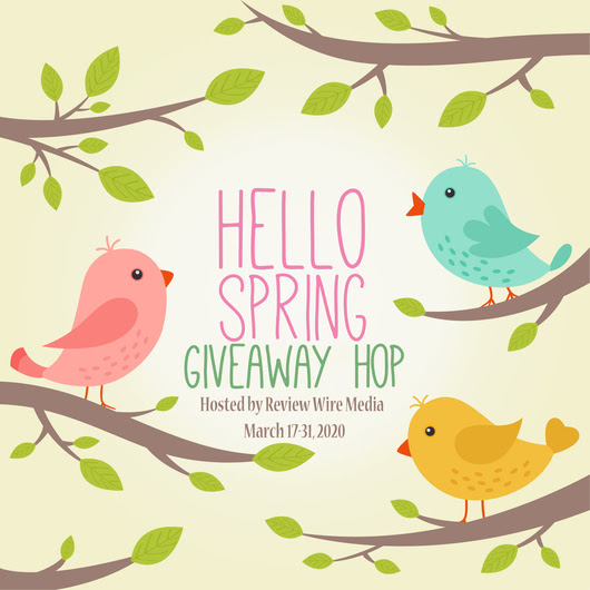 hello spring graphic with birds