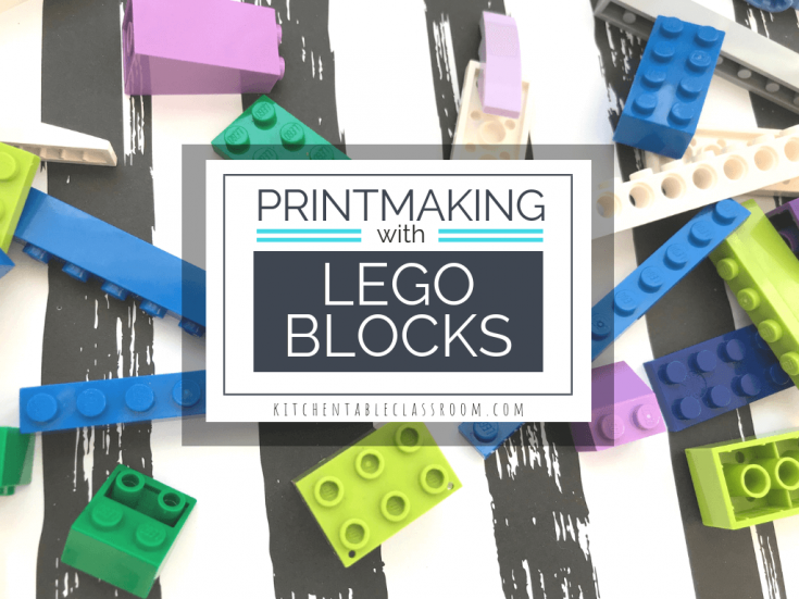 Printmaking with Legos- a Simple Lego Craft