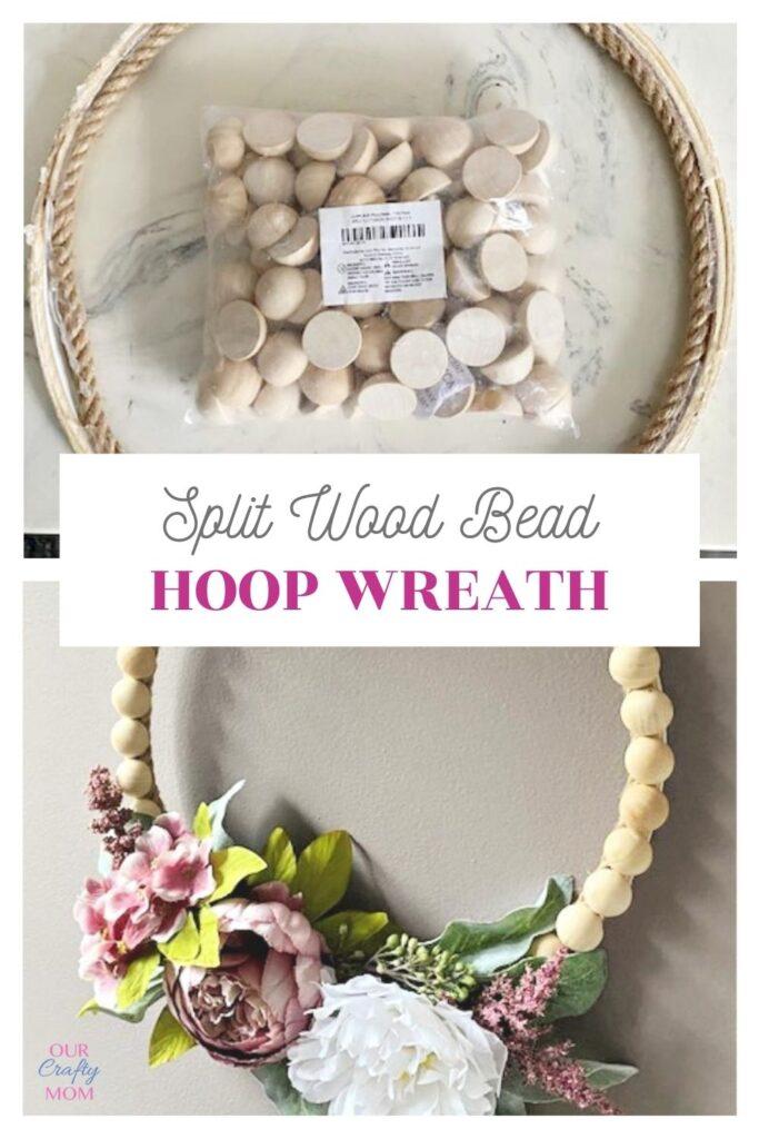 diy wood bead wreath