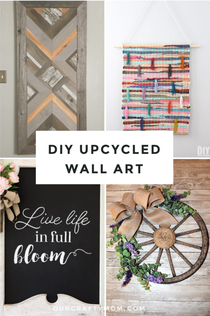 DIY upcycled wall art