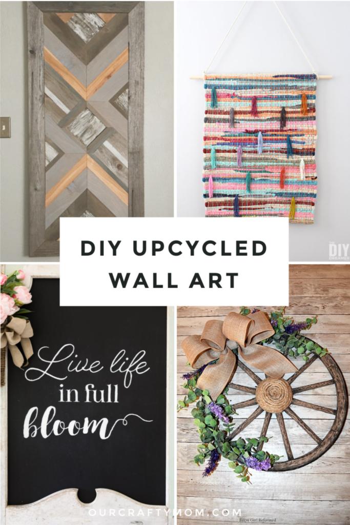 DIY upcycled wall art